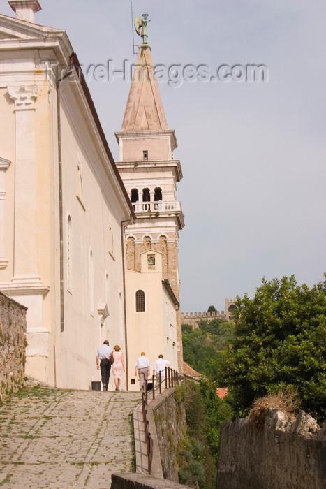 slovenia301: Slovenia - Piran: Church of Saint George - photo by I.Middleton - (c) Travel-Images.com - Stock Photography agency - Image Bank