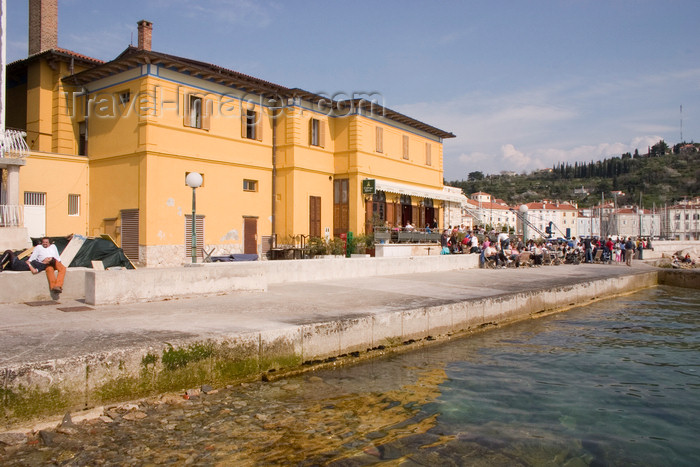 slovenia306: Slovenia - Piran: Caffe del Moro seafront, Adriatic coast - photo by I.Middleton - (c) Travel-Images.com - Stock Photography agency - Image Bank