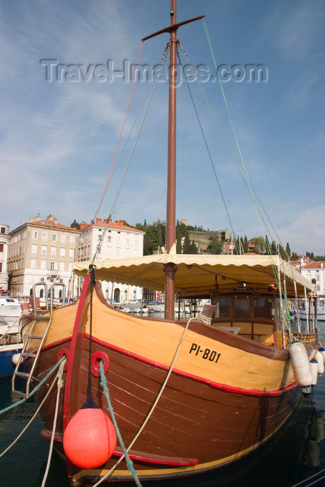 slovenia308: Slovenia - Piran: wooden boat -  harbour, Adriatic coast - photo by I.Middleton - (c) Travel-Images.com - Stock Photography agency - Image Bank
