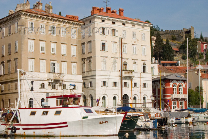 slovenia310: Slovenia - Piran: buildings and boats - harbour, Adriatic coast - photo by I.Middleton - (c) Travel-Images.com - Stock Photography agency - Image Bank