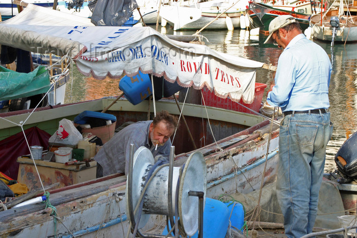 slovenia312: Slovenia - Piran: harbour - fishermen at work - photo by I.Middleton - (c) Travel-Images.com - Stock Photography agency - Image Bank