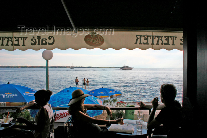 slovenia314: Slovenia - Piran: seafront as seen from Cafe Teater, Adriatic coast - photo by I.Middleton - (c) Travel-Images.com - Stock Photography agency - Image Bank