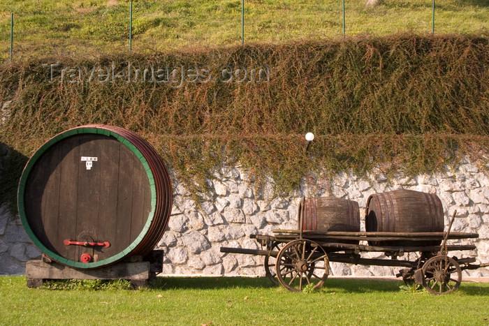 slovenia316: Slovenia - Wine roads on outskirts of Brezice - barrels - Lower Carniola / Dolenjska region - photo by I.Middleton - (c) Travel-Images.com - Stock Photography agency - Image Bank