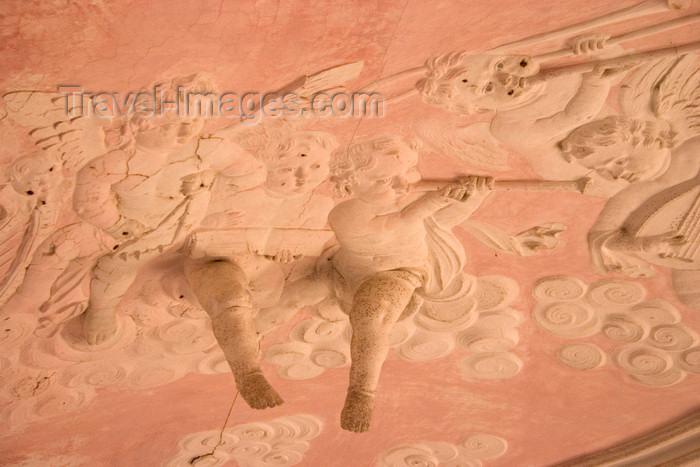 slovenia317: Slovenia - Bizeljsko: Beautifully carved ceiling in Oresje Castle - photo by I.Middleton - (c) Travel-Images.com - Stock Photography agency - Image Bank