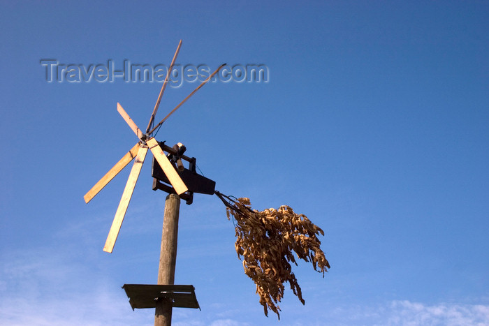 slovenia320: Slovenia - Klopotec, wooden wind powered rattlers designed to scare of birds from the vineyards on outskirts of Brezice - photo by I.Middleton - (c) Travel-Images.com - Stock Photography agency - Image Bank