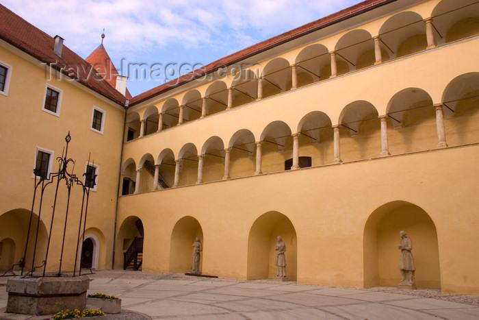 slovenia326: Slovenia - Jesenice na Dolenjskem:  castle inner court - photo by I.Middleton - (c) Travel-Images.com - Stock Photography agency - Image Bank