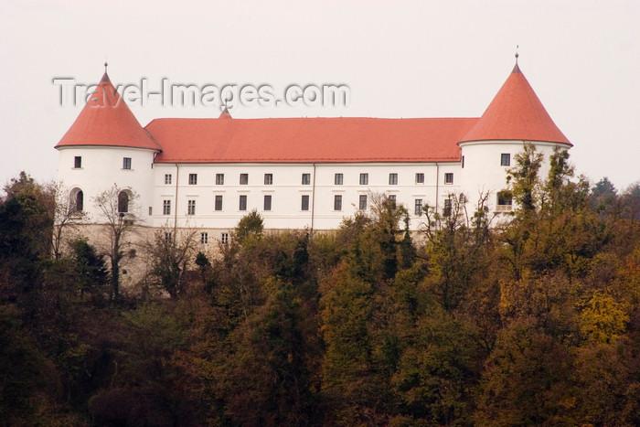 slovenia327: Slovenia - Jesenice na Dolenjskem castle and the forest - Golf hotel Grad Mokrice - photo by I.Middleton - (c) Travel-Images.com - Stock Photography agency - Image Bank