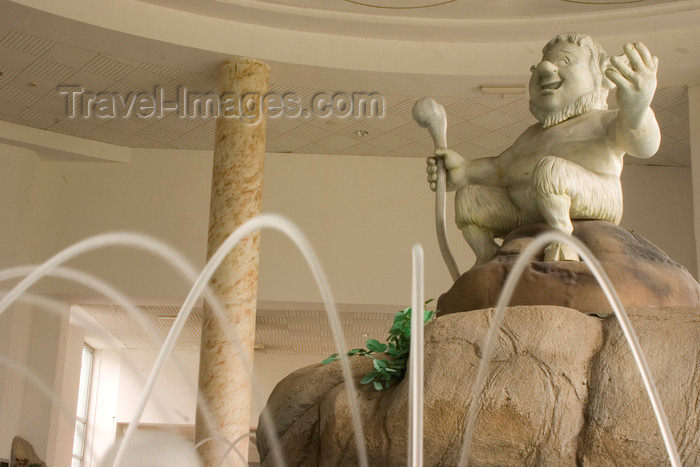 slovenia331: Slovenia - Catez ob Savi: Terme catez - thermal spa - statue of Catez  who, according to the legend, is a half man half goat and guardian of the sacred springs - photo by I.Middleton - (c) Travel-Images.com - Stock Photography agency - Image Bank