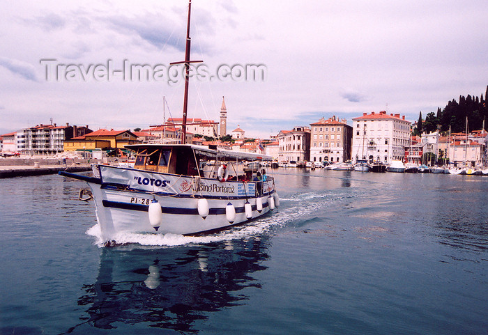 slovenia410: Slovenia - Piran: a tourist boat leaves the harbour - photo by M.Torres - (c) Travel-Images.com - Stock Photography agency - Image Bank
