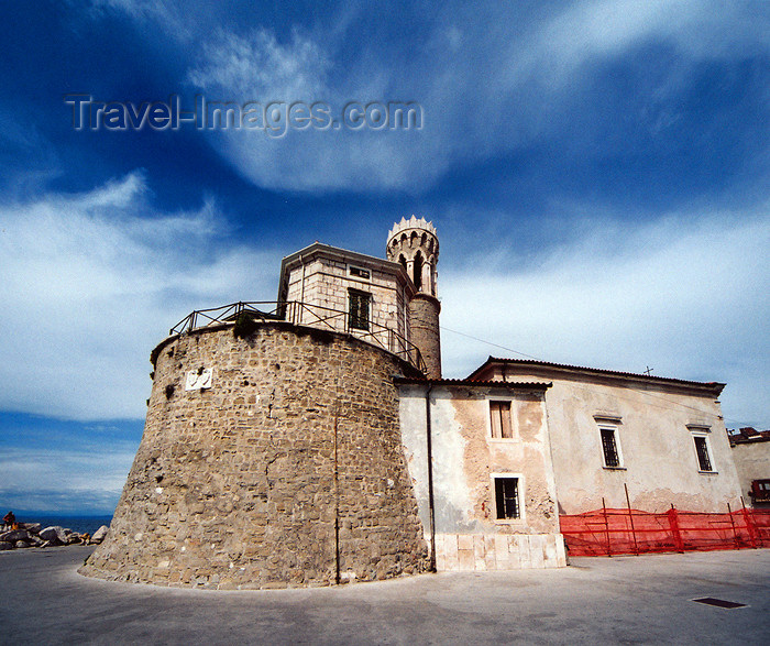 slovenia419: Slovenia - Piran: lighthouse and Sv. Klement church, at Punta Madonna - the extreme of the peninsula - Presernovo nabrezje - photo by M.Torres - (c) Travel-Images.com - Stock Photography agency - Image Bank