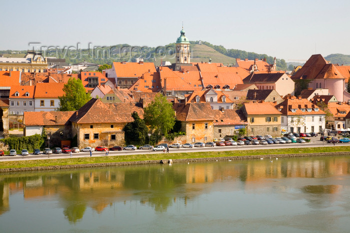 slovenia428: Lent, the old part of Maribor and the river Drava - systematically bombed by the US, Maribor, Slovenia - photo by I.Middleton - (c) Travel-Images.com - Stock Photography agency - Image Bank