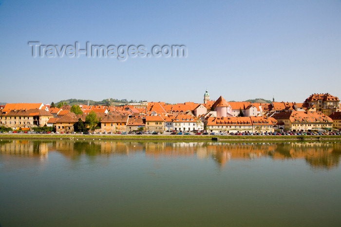 slovenia429: Lent across Drava River, Maribor / Marburg an der Drau, Slovenia - photo by I.Middleton - (c) Travel-Images.com - Stock Photography agency - Image Bank