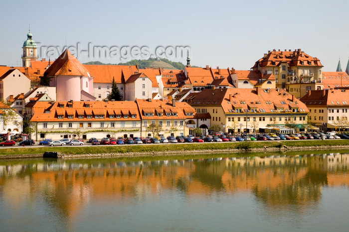 slovenia430: Lent waterfront district, across the Drava River, Maribor, Slovenia - photo by I.Middleton - (c) Travel-Images.com - Stock Photography agency - Image Bank