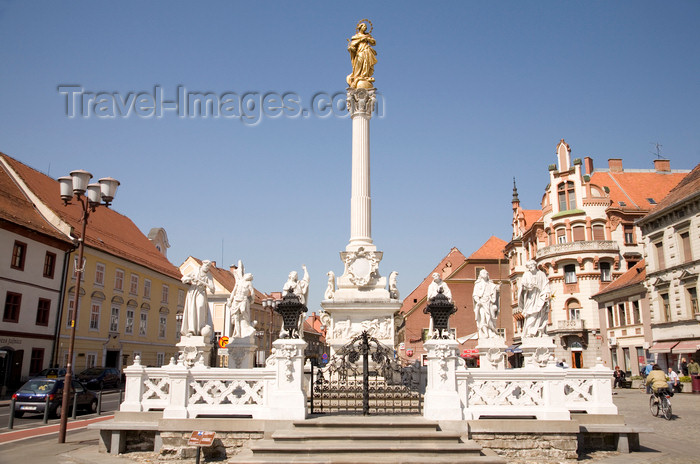 slovenia436: plague pillar in memory of the devastation caused by the 1680-1681 epidemic - Glavni Trg, Maribor, Slovenia - photo by I.Middleton - (c) Travel-Images.com - Stock Photography agency - Image Bank