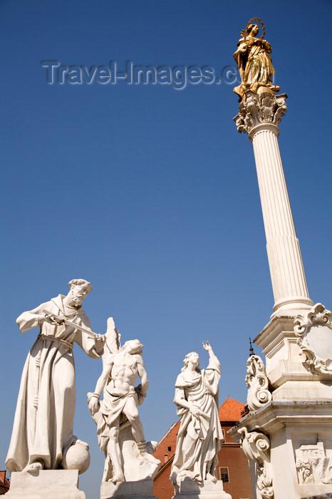 slovenia438: Plague monument - under the Virgin Mary, Glavni Trg, Maribor, Slovenia - photo by I.Middleton - (c) Travel-Images.com - Stock Photography agency - Image Bank