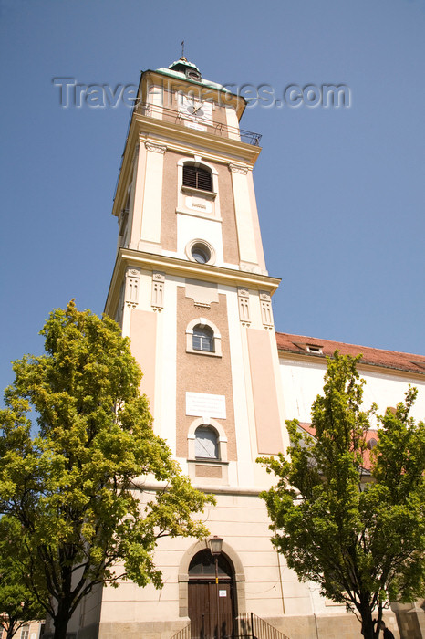 slovenia442: tower of St John's Carthedral - Stolnica, Slomskov Trg , Maribor, Slovenia - photo by I.Middleton - (c) Travel-Images.com - Stock Photography agency - Image Bank