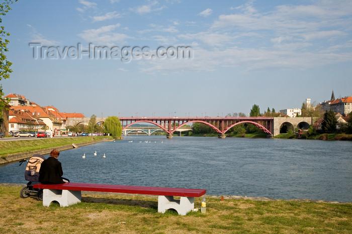 slovenia454: View across the Drava River, Maribor, Slovenia - photo by I.Middleton - (c) Travel-Images.com - Stock Photography agency - Image Bank