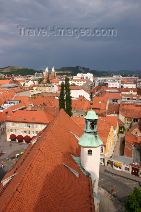 slovenia461: View from the bell tower of the Church of Saint John the Baptist of the red tiled roodtops of Maribor, Slovenia - photo by I.Middleton - (c) Travel-Images.com - Stock Photography agency - Image Bank