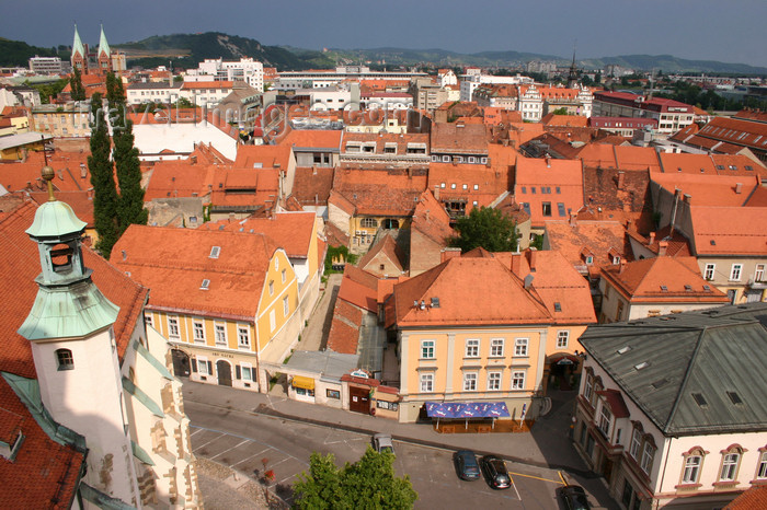 slovenia463: the red roofs of Maribor - view from the bell tower of the Church of Saint John the Baptist - photo by I.Middleton - (c) Travel-Images.com - Stock Photography agency - Image Bank