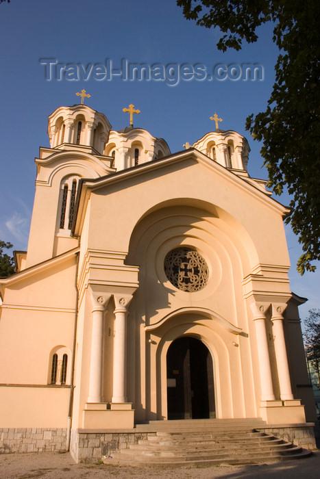 slovenia49: Serbian Orthodox church of St Cyril and Methodius - façade, Ljubljana, Slovenia - photo by I.Middleton - (c) Travel-Images.com - Stock Photography agency - Image Bank