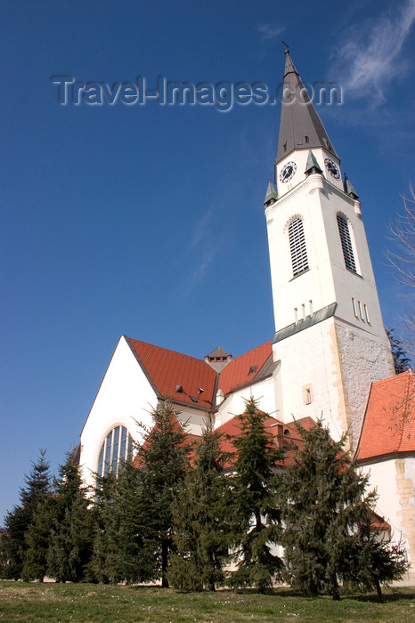 slovenia511: tower of the Church of Saint Nicholas in Murska Sobota, Prekmurje, Slovenia - photo by I.Middleton - (c) Travel-Images.com - Stock Photography agency - Image Bank