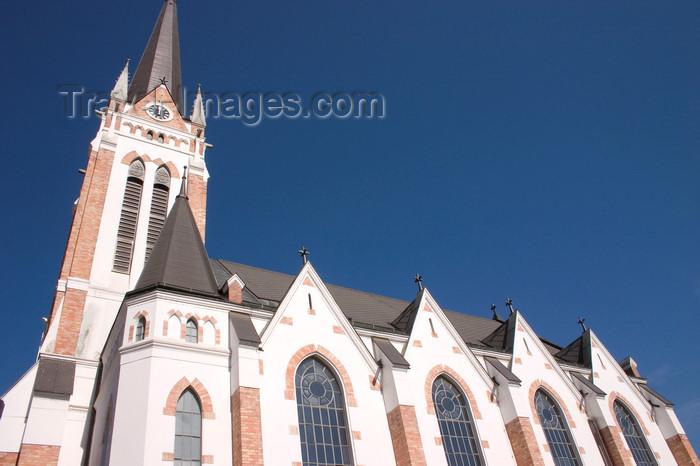 slovenia513: Evangelical Church - Evangelicanska cerkev - side view - Murska Sobota, Prekmurje, Slovenia - photo by I.Middleton - (c) Travel-Images.com - Stock Photography agency - Image Bank