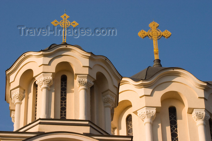slovenia52: small domes at the Serbian Orthodox church of St Cyril and Methodius, Ljubljana , Slovenia - photo by I.Middleton - (c) Travel-Images.com - Stock Photography agency - Image Bank