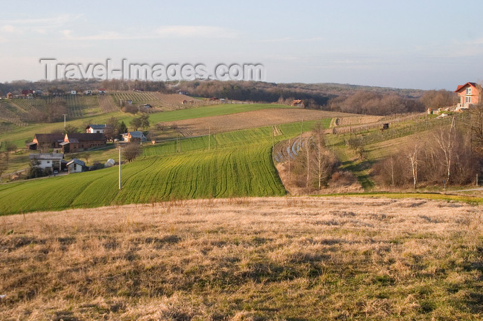 slovenia520: Rolling hills of Prekmurje, Slovenia - photo by I.Middleton - (c) Travel-Images.com - Stock Photography agency - Image Bank