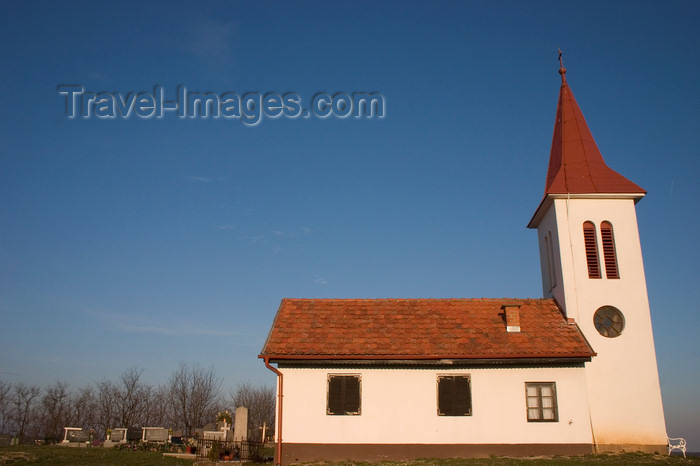 slovenia521: Rural church and cemetery, Prekmurje , Slovenia - photo by I.Middleton - (c) Travel-Images.com - Stock Photography agency - Image Bank