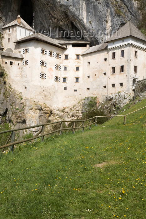 slovenia525: Predjama castle - from the fields, Slovenia - photo by I.Middleton - (c) Travel-Images.com - Stock Photography agency - Image Bank