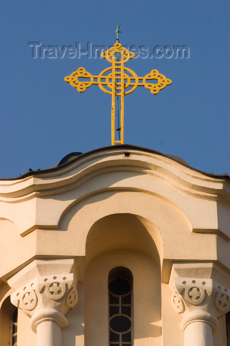 slovenia53: cross at the Serbian Orthodox church of St Cyril and Methodius, Ljubljana , Slovenia - photo by I.Middleton - (c) Travel-Images.com - Stock Photography agency - Image Bank