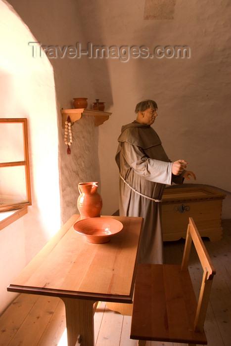 slovenia530: Reconstruction of monks living quarters inside Predjama Castle, Slovenia - photo by I.Middleton - (c) Travel-Images.com - Stock Photography agency - Image Bank
