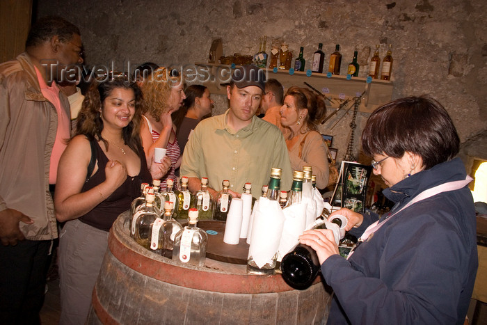 slovenia533: Wine tasting in dungeons of Predjama Castle, Slovenia - photo by I.Middleton - (c) Travel-Images.com - Stock Photography agency - Image Bank