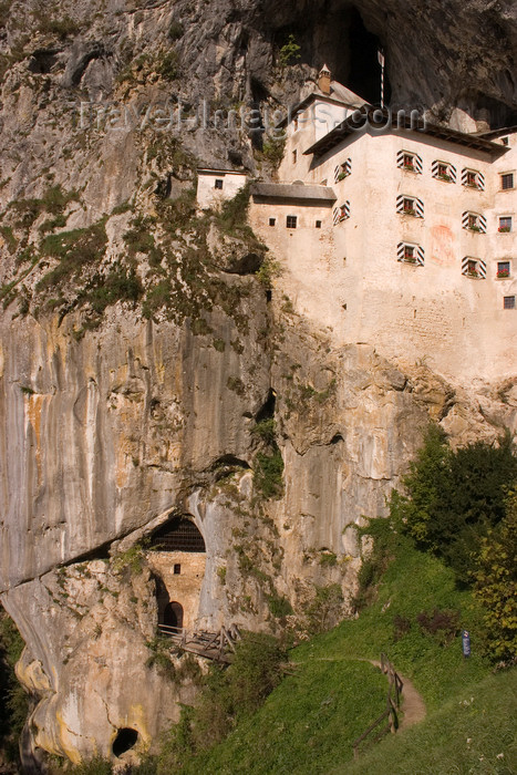 slovenia538: Predjama castle - cliff-face, Slovenia - photo by I.Middleton - (c) Travel-Images.com - Stock Photography agency - Image Bank