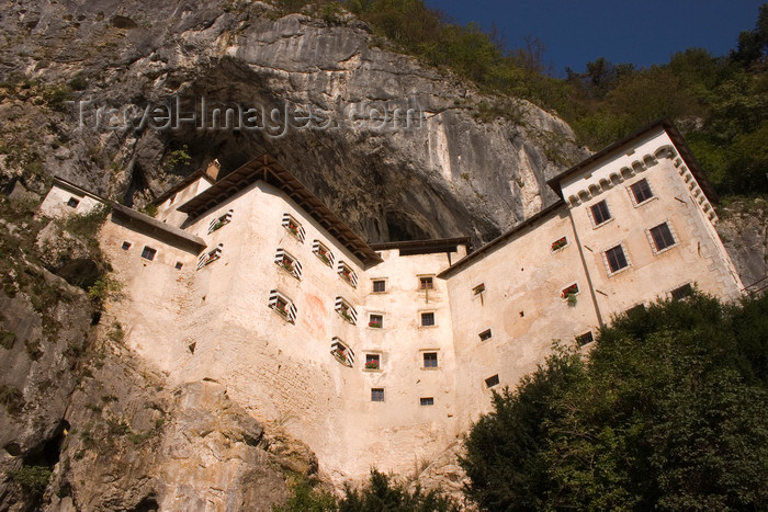 slovenia540: Predjama castle from below, Slovenia - photo by I.Middleton - (c) Travel-Images.com - Stock Photography agency - Image Bank