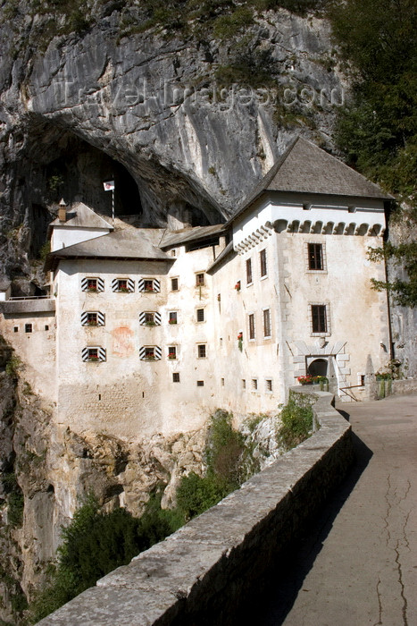 slovenia546: Predjama castle - terrace, Slovenia - photo by I.Middleton - (c) Travel-Images.com - Stock Photography agency - Image Bank