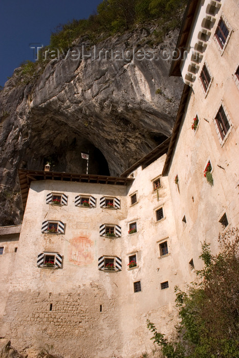 slovenia548: Predjama castle - wedged tight into a crevasse halfway up a 123-metre cliff-face , Slovenia - photo by I.Middleton - (c) Travel-Images.com - Stock Photography agency - Image Bank