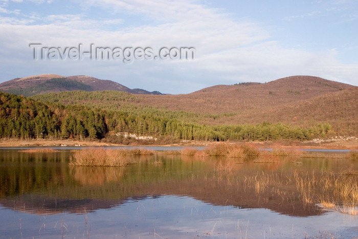 slovenia561: Slovenia - Pivka Valley: Palsko lake - perfect mirror - photo by I.Middleton - (c) Travel-Images.com - Stock Photography agency - Image Bank