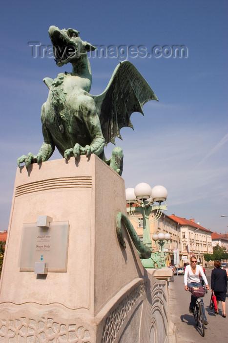 slovenia58: Dragon Bridge, eastern boundary of the city center, Ljubljana, Slovenia - photo by I.Middleton - (c) Travel-Images.com - Stock Photography agency - Image Bank