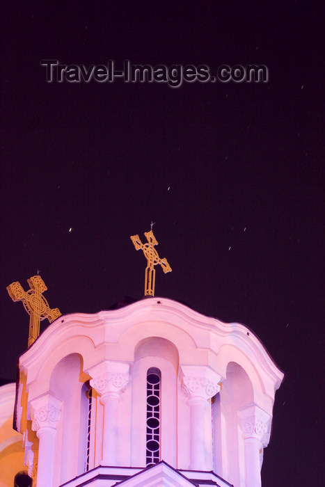 slovenia70: Serbian orthodox church of Saints Cyril and Methodius - night sky, Ljubljana - photo by I.Middleton - (c) Travel-Images.com - Stock Photography agency - Image Bank