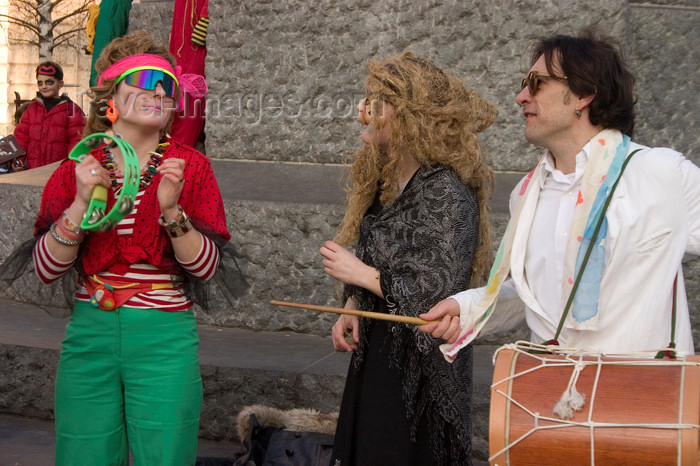slovenia719: Slovenia - Ljubliana: Pust celebrations - musicians - photo by I.Middleton - (c) Travel-Images.com - Stock Photography agency - Image Bank