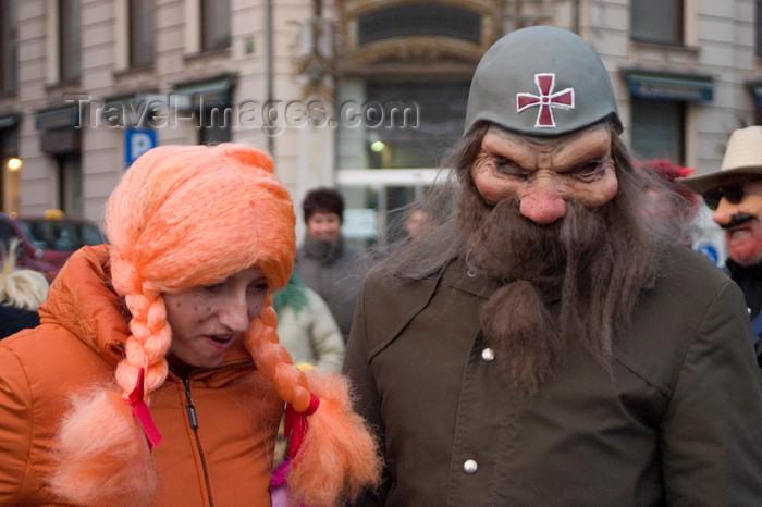 slovenia729: Slovenia - Ljubliana: Pust celebrations - Mardi Gras - people in costume - photo by I.Middleton - (c) Travel-Images.com - Stock Photography agency - Image Bank