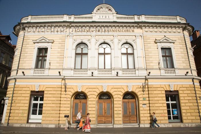 slovenia732: Slovenia - Ljubliana: Philharmonic Academy - facade - home of the Slovenian Philharmonic Orchestra - Academia Philarmonicorum - photo by I.Middleton - (c) Travel-Images.com - Stock Photography agency - Image Bank