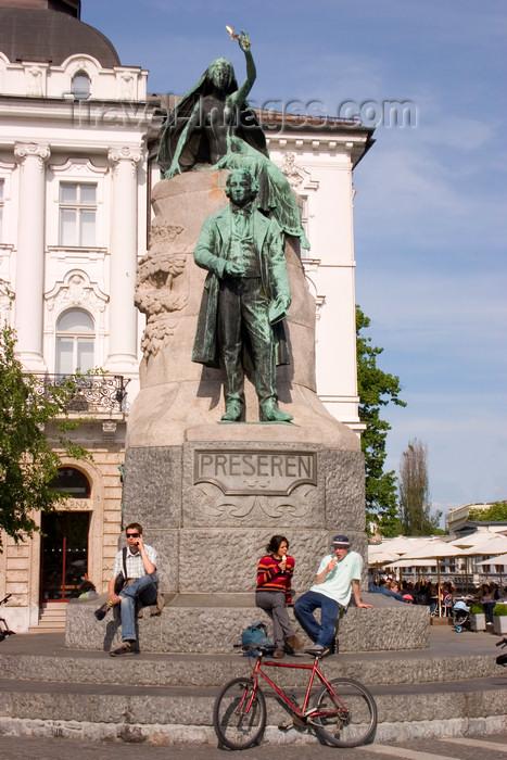 slovenia85: Preseren monument, Presernov trg, Ljubljana, Slovenia - photo by I.Middleton - (c) Travel-Images.com - Stock Photography agency - Image Bank