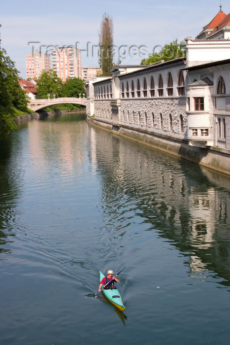 slovenia88: Canoing on the Ljubljanica river, Ljubljana, Slovenia - photo by I.Middleton - (c) Travel-Images.com - Stock Photography agency - Image Bank