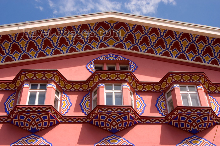 slovenia93: detail of the facade of the old People's Loan Bank building - Wiener Sezession architecture in Miklosiceva Cesta, Ljubljana, Slovenia - photo by I.Middleton - (c) Travel-Images.com - Stock Photography agency - Image Bank