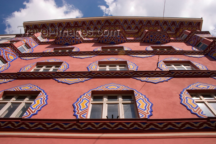 slovenia97: Art Nouveau, People's Loan Bank building, Secessionist architecture, Miklosiceva Cesta, Ljubljana, Slovenia - photo by I.Middleton - (c) Travel-Images.com - Stock Photography agency - Image Bank