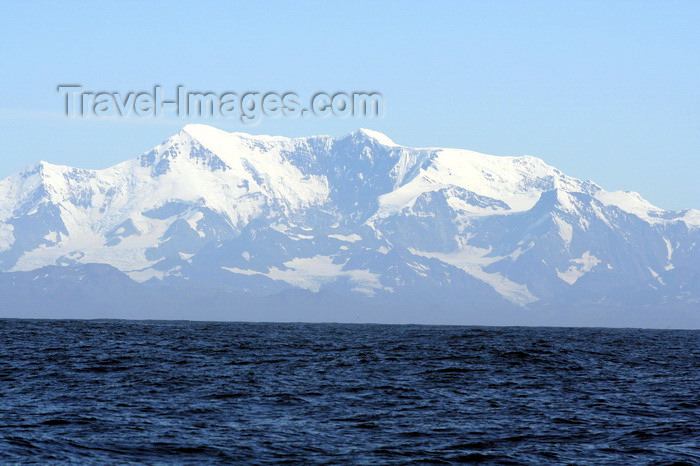 south-georgia177: South Georgia - view from the ocean - Antarctic region images by C.Breschi - (c) Travel-Images.com - Stock Photography agency - Image Bank