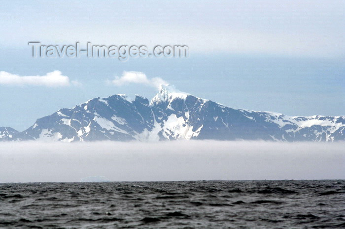 south-georgia33: South Georgia - from the sea - island in the mist  - Antarctic region images by C.Breschi - (c) Travel-Images.com - Stock Photography agency - Image Bank