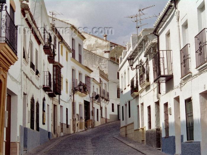 spai180: Spain / España - Ronda (Andalucia - provincia de Malaga): street in La Ciudad - photo by M.Bergsma - (c) Travel-Images.com - Stock Photography agency - Image Bank